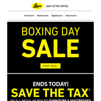 Boxing Day Sale is STILL ON