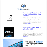 One Perfect Trading Idea & Top Ranked ETFS For 2020