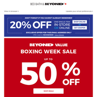 Up to $120 off Boxing Day deals: Out with the old, in with the new! Plus, don't forget to use your COUPON!