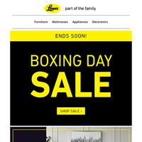 🥊🥊🥊 Tick tock - Boxing Day Sale Ending Soon - SAVE THE TAX ENDS TODAY!