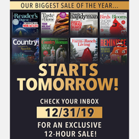 MIDNIGHT TONIGHT: Shop Our Biggest Sale Of The Year!