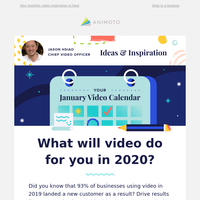 Your January video inspiration is here 📆