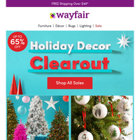 CHRISTMAS TREE CLEAROUTTTTTT! (No joke!)