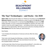 The Top 5 Technologies - and Stocks - for 2020