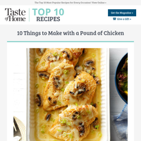 10 Things to Make with a Pound of Chicken