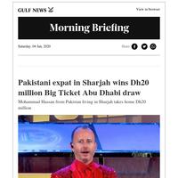 Pakistani expat in Sharjah wins Dh20 million in Abu Dhabi