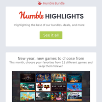 This week at Humble: New Humble Choice games, EA New Year Sale, and more
