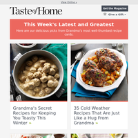Grandma's Secret Winter Recipes