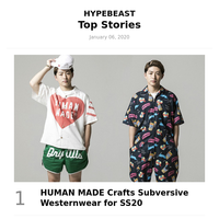 Your Weekly Round-Up: HUMAN MADE Crafts Subversive Westernwear for SS20 and More
