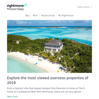 We reveal the most viewed overseas homes and fitness inspiration...