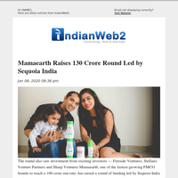 Mamaearth Raises 130 Crore Round Led by Sequoia India and More