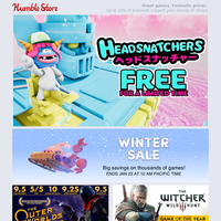 Get a FREE copy of Headsnatchers + Up to 90% on thousands of games in the Humble Store Winter Sale + Monster Hunter World: Iceborne out now!