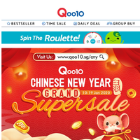 HUAT AH! Chinese New Year Grand Super Sale is HERE! SAVE up to 80% OFF with our EXCLUSIVE CNY DEALS! >