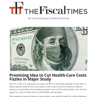 A Promising Idea to Cut Health-Care Costs Fizzles
