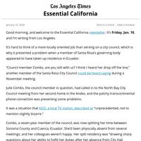 Essential California: The strange saga of Santa Rosa's vacant City Council seat