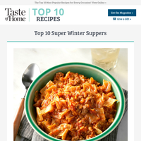 Super Winter Suppers