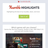 This week at Humble: Choice, Winter Sale, new Monster Hunter, and more!
