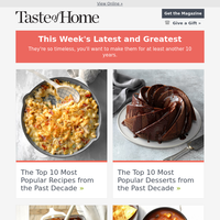 🎉 The Top 10 Recipes of the Decade