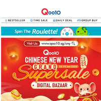Too free, nothing to do? Look at what you can buy from our Chinese New Year Supersale!