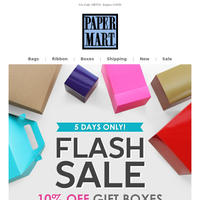 FLASH SALE: 10% Off Gift Boxes!