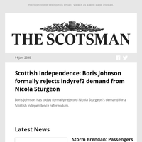 Scottish Independence: Boris Johnson formally rejects indyref2 demand from Nicola Sturgeon