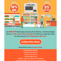 Last Chance to get this Deal: 50% Off  2 day home delivery PLUS Gift Card