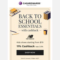 Get up to 12% cashback on your back-to-school essentials✏️🍎