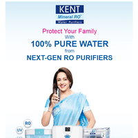 KENT Next Gen RO Purifiers Now With Free Gift Worth Rs. 3000