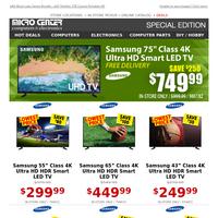 Ultra HD - Amazing Price! $749 Samsung 75\