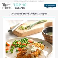 10 Cracker Barrel Copycat Recipes