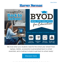 Get Back to School Ready with Harvey Norman