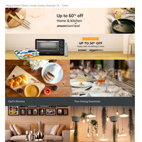 Amazon - Home & Kitchen @60% OFF | JBL new Launches with AKG Harman | Mega Travel store