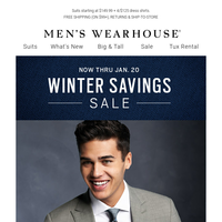 Upgrade your wardrobe during the Winter Savings Sale.