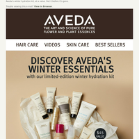 Aveda's limited-edition winter kit. Get yours before they're gone!