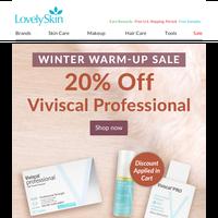 20% Off Viviscal Professional + Free $35 Serum Gift!