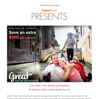 Fodor's Presents: Exclusive offer from Great Value Vacations