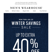 Kick off the weekend with EXTRA 30% OFF clearance