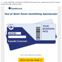 Expedia Customer – (1) new message: Reward yourself with THIS special on air from your home airport
