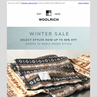 Save up to 50% on Dozens of Newly Added Styles + Save on Made in the USA Blankets - Winter Sale