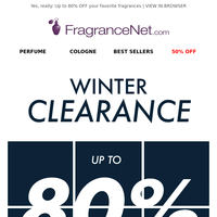 As low as $5.99: Winter Clearance Event