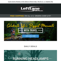 Extra 25% Off Running Headlamps + Saucony Guide ISO 2 Shoes, Vittoria, Road & Gravel Bikes, SMITH, Zuala, and More
