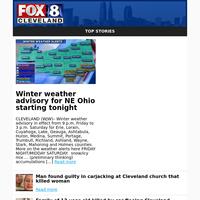 Winter weather advisory for NE Ohio startingtoni ght