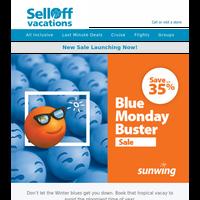 New! Sunwing's Blue Monday Sale