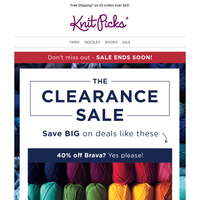 Don't wait! The Clearance Sale ends SOON!