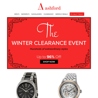 The Winter Clearance Event is Still On
