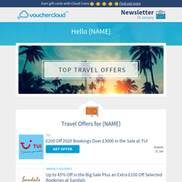 Top Travel Offers ✈️ Expedia • Holiday Extras • Sandals + more travel discounts!