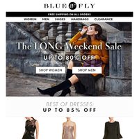 Bluefly - The Long Weekend Sale | 80% Off Dresses, Blazers & more
