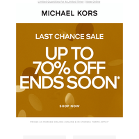 Too Good To Miss: Up To 70% Off