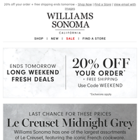 Last chance for these prices on Le Creuset