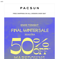 LAST DAY for the extra-50%-off party 🎉